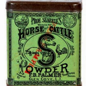 Prof. Searele's Horse and Cattle Powder Tin