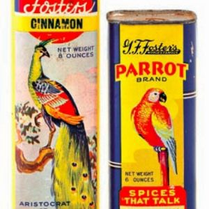 Foster's Parrot Spice Cans