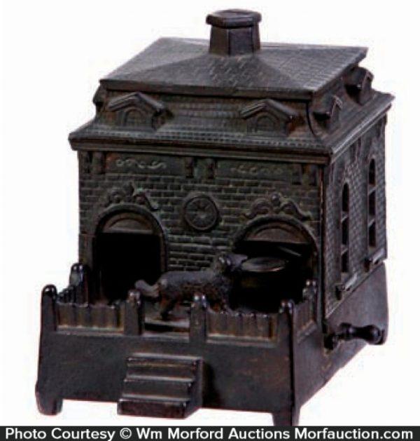 Dog On Turntable Mechanical Bank