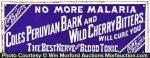 Coles Peruvian Bark Cherry Bitters Sign