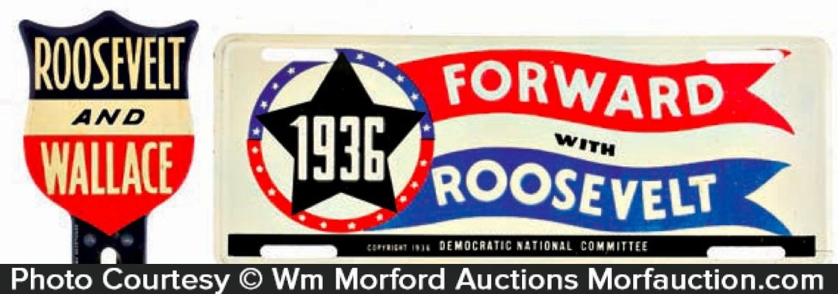 Roosevelt Political Auto Tags
