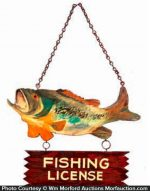 Fishing License Wooden Sign