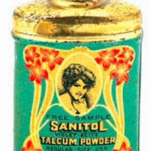 Sanitol Sample Talcum Powder Tin