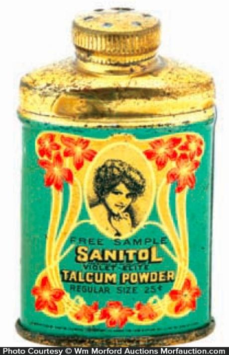 Sanitol Sample Talcum Powder Tin