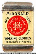 Mcdonald Red Seal Clothes Match Safe