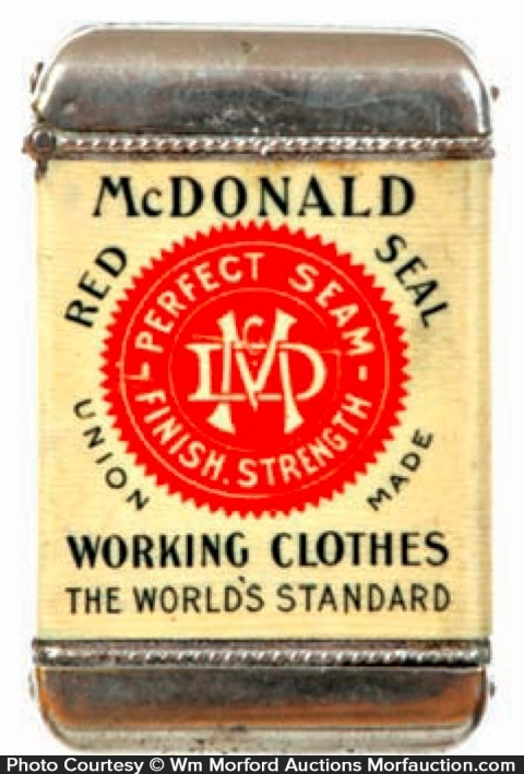 Mcdonald Red Seal Clothes Match Safe