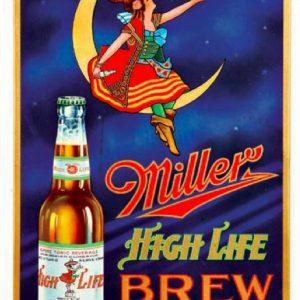 Miller Highlife Brew Sign