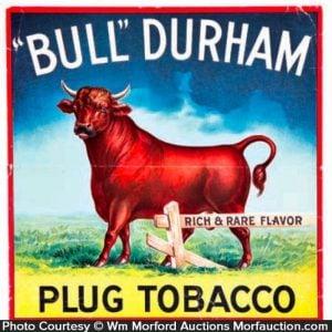Bull Durham Tobacco Crate Label