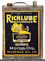 Richlube Motor Oil Can