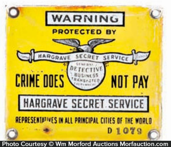 Hargrave Secret Service Sign
