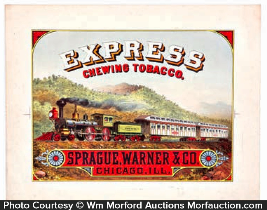 Express Chewing Tobacco Sign