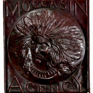 Moccasin Agency Sign
