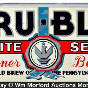 Tru-Blu White Seal Beer Sign