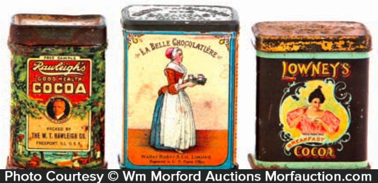 Vintage Cocoa Sample Tins