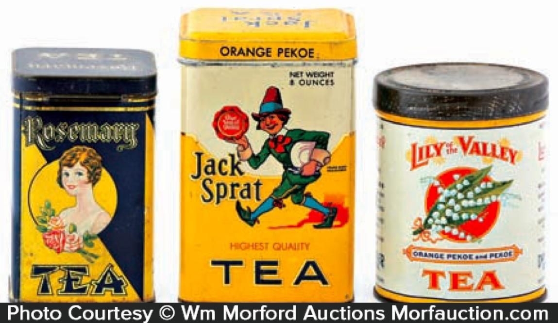 Vintage Tea Tins