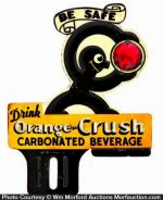 Orange Crush License Plate Topper