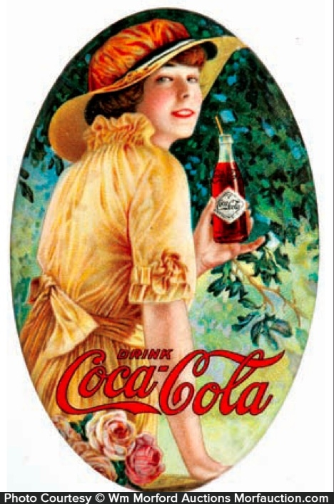 Antique Advertising 1916 Coca Cola Mirror Antique