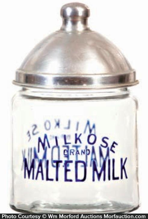 Milkose Malted Milk Jar