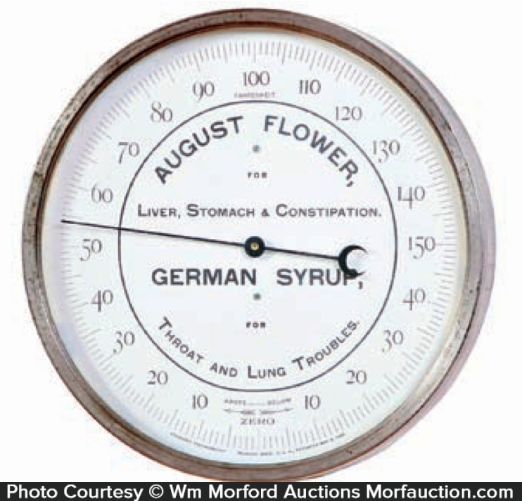 August Flower German Syrup Thermometer