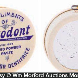 Sozodont Tooth Paste Mirror Measure