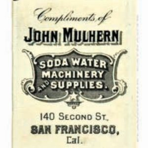 Soda Water Machinery Match Safe