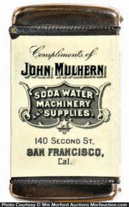 Soda Water Machinery Match Safe
