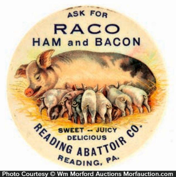 Raco Ham and Bacon Pocket Mirror