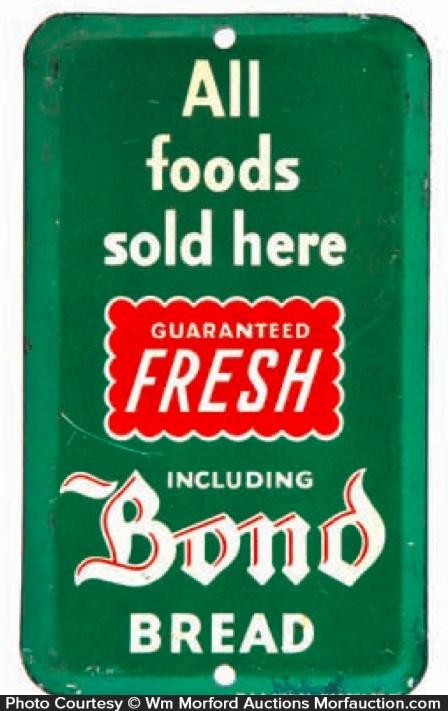 Bond Bread Door Push