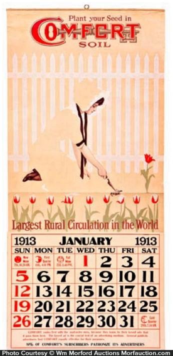 Comfort Soil Calendar