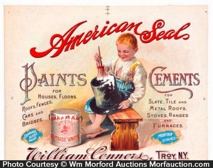 American Seal Paint Sign