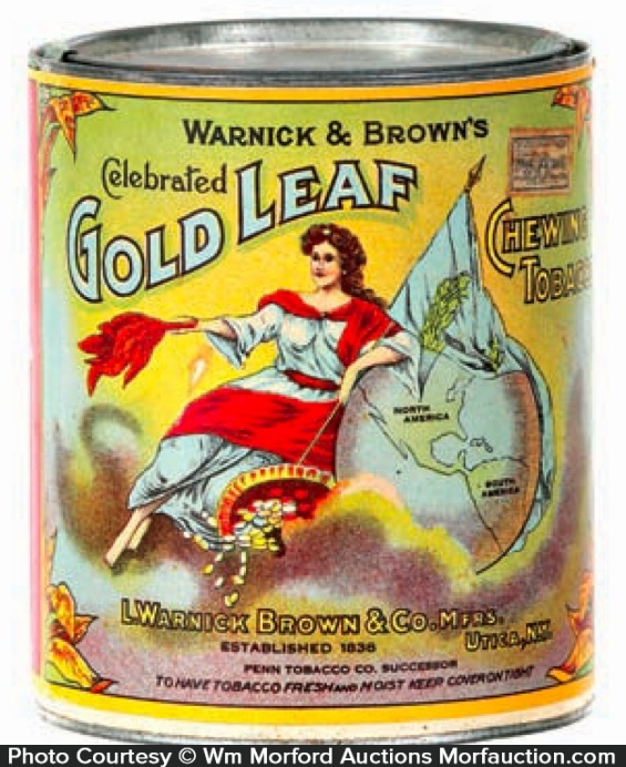 Gold Leaf Tobacco Can