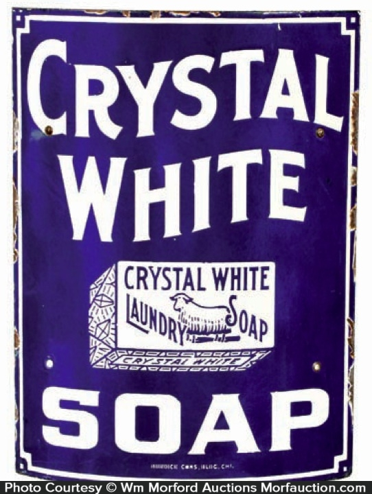 Crystal White Soap Sign