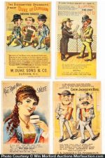 Vintage Folding Tobacco Trade Cards