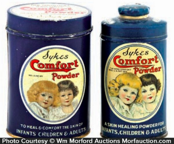 Sykes Comfort Powder Tins