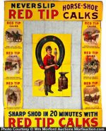 Red Tip Horse Shoe Calks Display