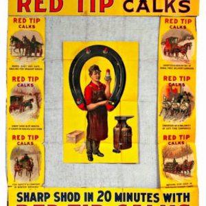 Red Tip Horse Shoe Calks Display
