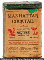 Manhattan Cocktail Tobacco Tin