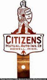 Citizens Porcelain Bumper Tag