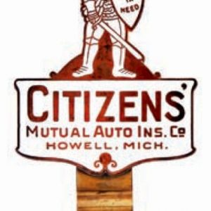 Citizens Porcelain Bumper Tag