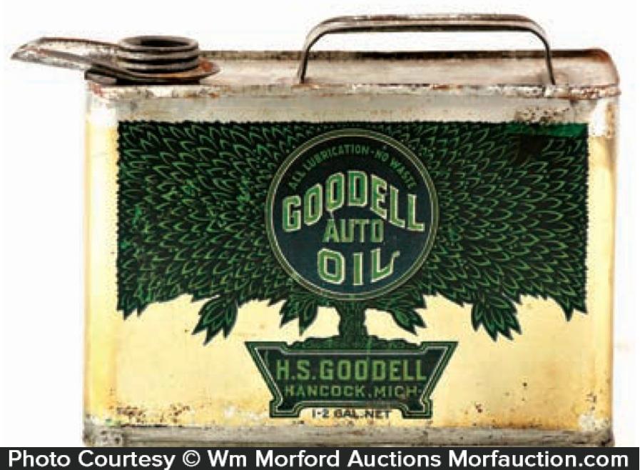 Goodell Motor Oil Can