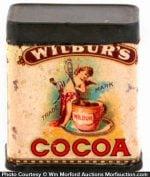 Wilbur's Cocoa Sample Tin