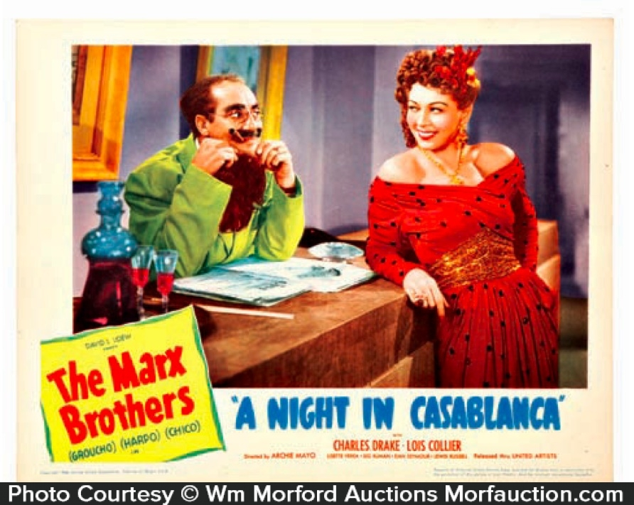Marx Brothers Casablanca Lobby Card