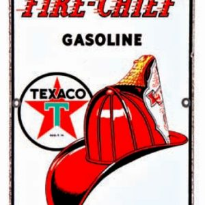 Texaco Fire Chief Gasoline Sign