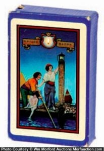 Maxfield Parrish Venetian Lamplighter Playing Cards
