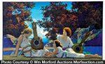 Maxfield Parrish Lute Players Art Print