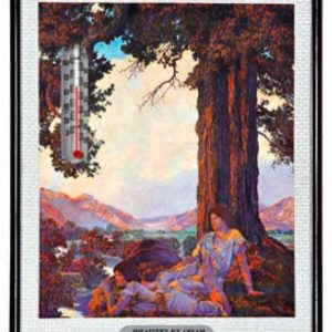 Maxfield Parrish Hilltop Thermometer