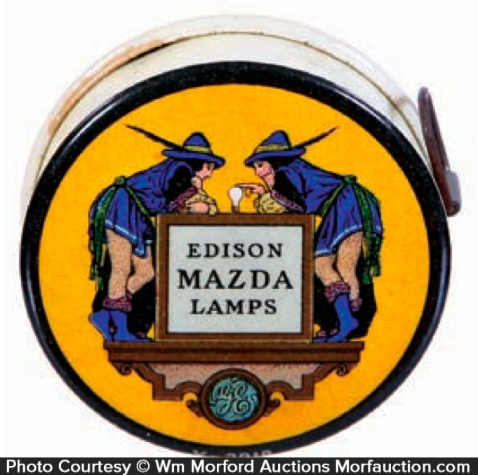 Edison Mazda Lamps Tape Measure