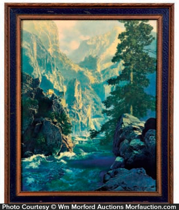 Spirt of Transportation 30x44 Hand Numbered Edition Maxfield Parrish Art