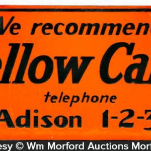 Yellow Cabs Porcelain Sign