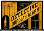 Detective Burglar Alarm Sign